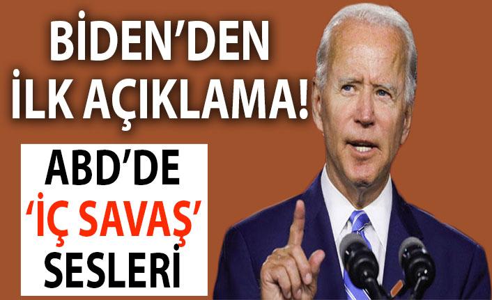 Son dakika: Biden'dan ilk açıklama!