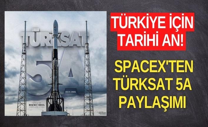 Türkiye için tarihi an! SpaceX'ten Türksat 5A paylaşımı