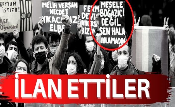Ankara Üniversitesi'nde 'Mesele Boğaziçi değil' pankartı