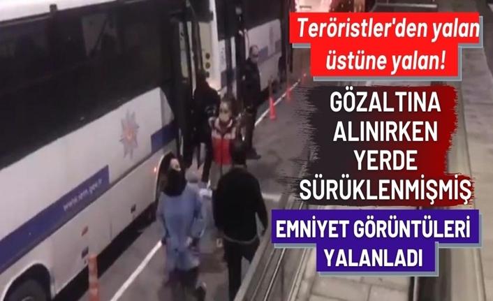 Emniyet, gözaltına alınan başörtülü öğrencinin görüntülerini paylaştı