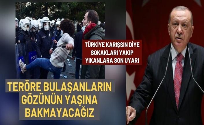 Erdoğan: Teröre bulaşmış olanların gözünün yaşına bakılmayacak