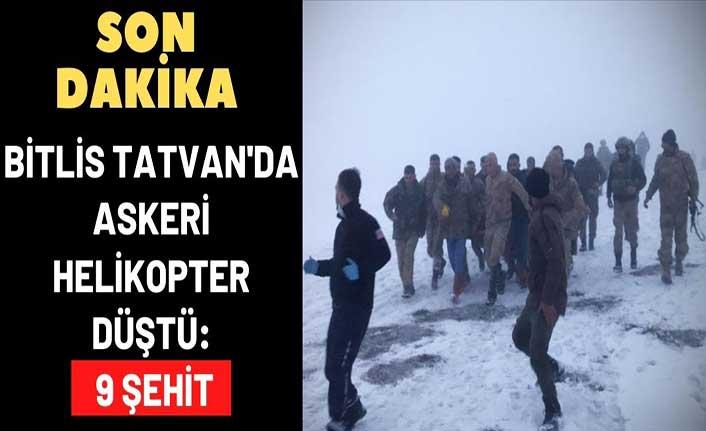 Bingöl'den kalkan askeri helikopter kaza kırıma uğradı: 9 şehit
