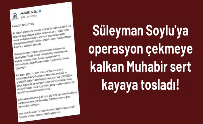 Anadolu Ajansı, Musab Turan'ın işine son verdi