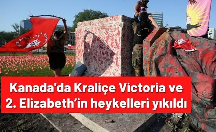 Kanada'da Kraliçe Victoria ve 2. Elizabeth'in heykelleri yıkıldı
