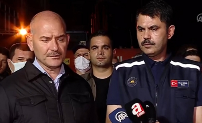 Bakan Soylu Kastamonu'da: Benim gördüğüm en ağır sel felaketi burası