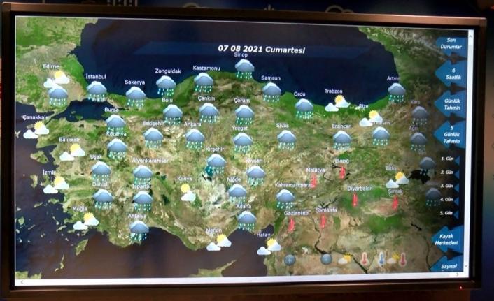 Meteoroloji'den Antalya için yağış tahmini