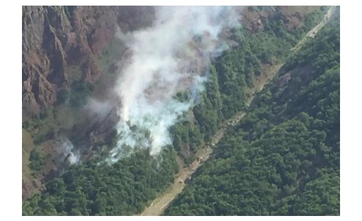 Tunceli'de örtü yangınları kontrol altında