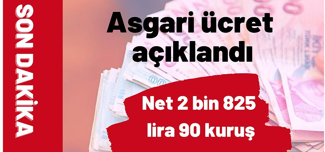 Asgari ücret 2021 yılı için brüt 3 bin 577 lira 50 kuruş, net 2 bin 825 lira 90 kuruş olarak belirlendi.