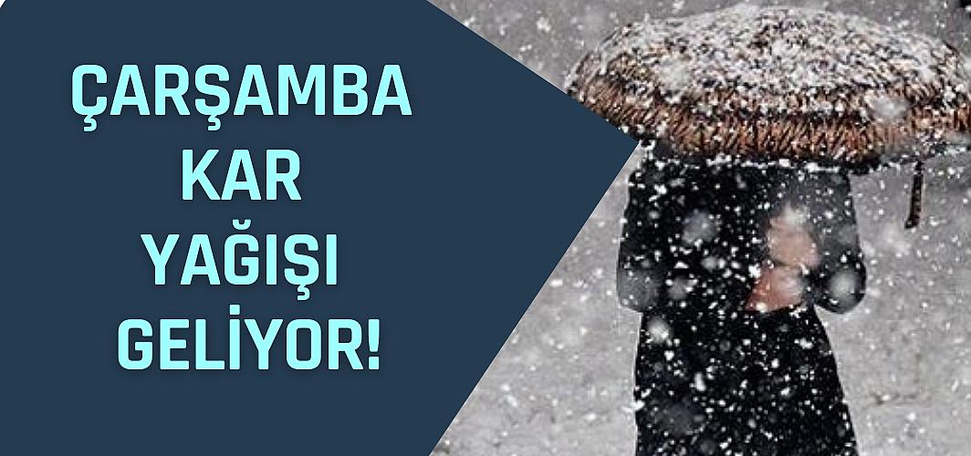 Çarşamba kar yağışı geliyor! Meteoroloji'den son dakika açıklamaları