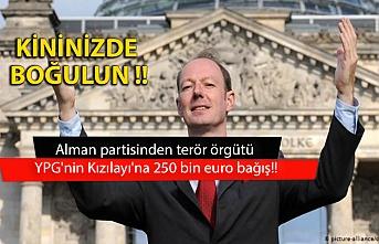 Alman partisinden terör örgütü YPG'nin Kızılayı'na 250 bin euro bağış!!