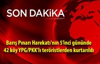 Barış Pınarı Harekatı'nda 42 köy YPG/PKK'lı teröristlerden kurtarıldı