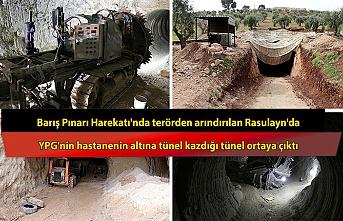Barış Pınarı Harekatı'nda terörden arındırılan Rasulayn'da, YPG'nin hastanenin altına tünel kazdığı tünel ortaya çıktı.