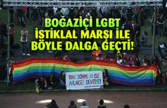 Boğaziçi LGBT Kulübü İstiklal Marşı ile alay etti!