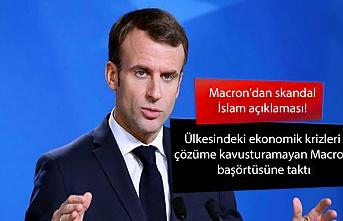 Macron'dan skandal İslam açıklaması! Ülkesindeki ekonomik krizleri çözüme kavusturamayan Macron başörtüsüne taktı