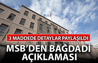 MSB'den 'Bağdadi' açıklaması