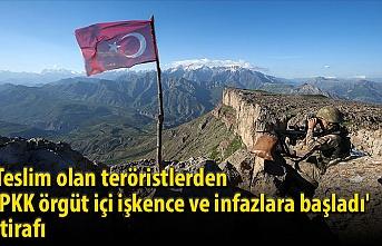 Teslim olan teröristlerden 'PKK örgüt içi işkence ve infazlara başladı' itirafı