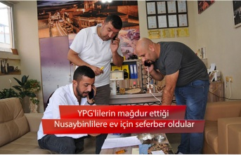 YPG'lilerin mağdur ettiği Nusaybinlilere ev için seferber oldular