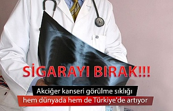 Akciğer kanseri görülme sıklığı hem dünyada hem de Türkiye'de artıyor