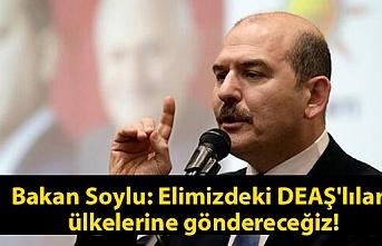 Bakan Soylu: Elimizdeki DEAŞ'lıları ülkelerine göndereceğiz.