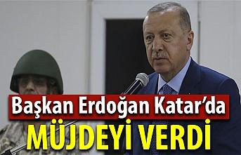 Cumhurbaşkanı Erdoğan, Katar'da müjdeyi verdi! Dikkat çeken isim