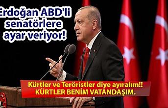Erdoğan ABD'li senatörlere ayar veriyor