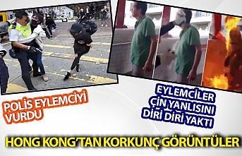 Hong Kong'tan kokrunç görüntüler!
