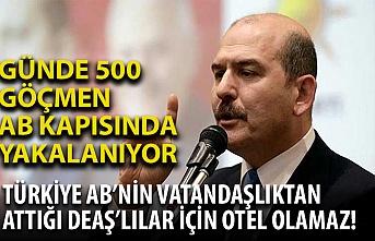 İçişleri Bakanı: Türkiye AB'nin vatandaşlıktan attığı DEAŞ'lılar için otel olamaz!