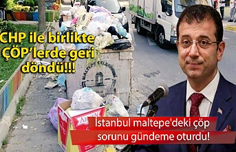 İstanbul maltepe'deki çöp sorunu gündeme oturdu!