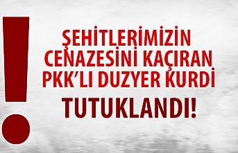 Şehitlerimizin cenazesini kaçıran PKK'lı terörist ve Evrim Tokmak  yakalandı
