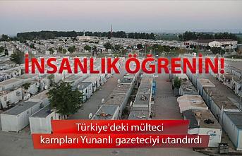 Türkiye'deki mülteci kampları Yunanlı gazeteciyi utandırdı