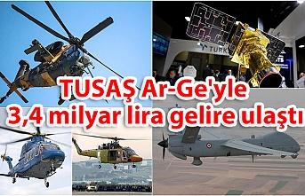 TUSAŞ Ar-Ge'yle 3,4 milyar lira gelire ulaştı
