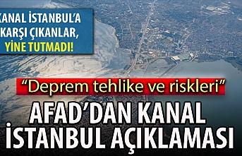 AFAD'dan 'Kanal İstanbul' açıklaması