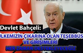 MHP Genel Başkanı Bahçeli: Ülkemizin çıkarına olan teşebbüs ve girişimleri her zaman destekleyeceğiz