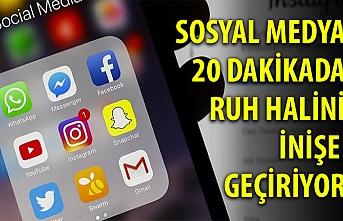 Sosyal medya 20 dakikadaruh halini inişe geçiriyor