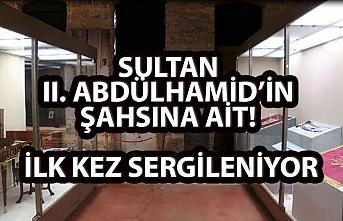 SULTAN II. ABDÜLHAMİD'İN ŞAHSINA AİT! İLK KEZ SERGİLENİYOR