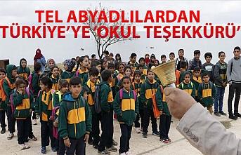 TEL ABYADLILARDAN TÜRKİYE'YE 'OKUL TEŞEKKÜRÜ'