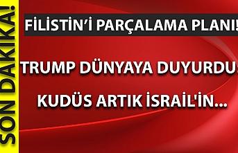Son dakika: Filistin'i parçalama planı! Trump dünyaya duyurdu: Kudüs artık İsrail'in...
