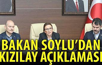 Bakan Soylu: Kızılay'a bir haksızlık yapılmasın