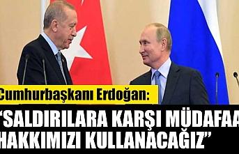 Cumhurbaşkanı Erdoğan, rejim saldırısı sonrası Putin'le görüştü: Saldırılara karşı müdafaa hakkımızı kullanacağız