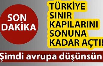 Türkiye Suriyeli mülteciler için sınır kapılarını açtı