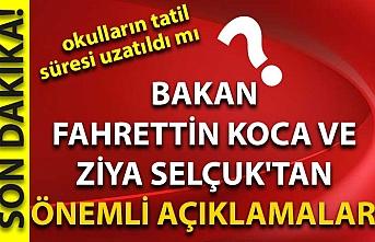 Bakan Fahrettin Koca ve Ziya Selçuk'tan önemli açıklamalar!