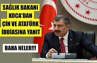 Sağlık Bakanı Koca'dan Çin ve Atatürk iddiasına yanıt