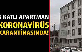 5 katlı apartman koronavirüs karantinasına alındı