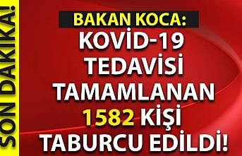 Kovid-19  tedavisi tamamlanan 1582 kişi  taburcu edildi!