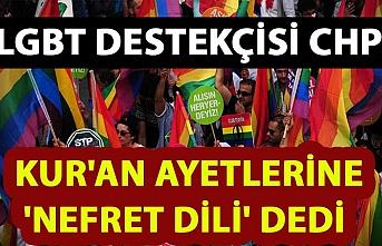 LGBT lincine CHP de katıldı: Kur'an ayetlerine 'nefret dili' dedi