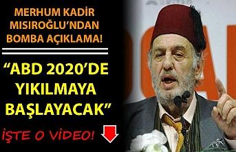 Müslüman ve Türk bir Tarih Araştırmacısı: ABD'nin yıkılışı 2020 de başlayacak.