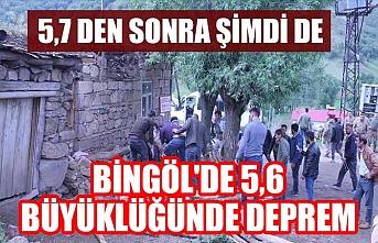 Bingöl'de 5,6 büyüklüğünde deprem meydana geldi