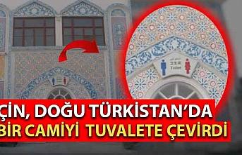 Çin, Doğu Türkistan'da bir camiyi tuvalete çevirdi