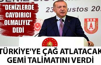 """""""Denizlerde caydırıcı olmalıyız"""" dedi. Türkiye'ye çağ atlatacak gemi talimatını verdi"""