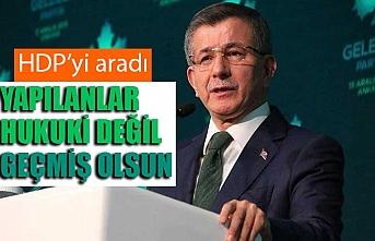 """Ahmet Davutoğlu'ndan HDP'ye """"geçmiş olsun"""" telefonu"""